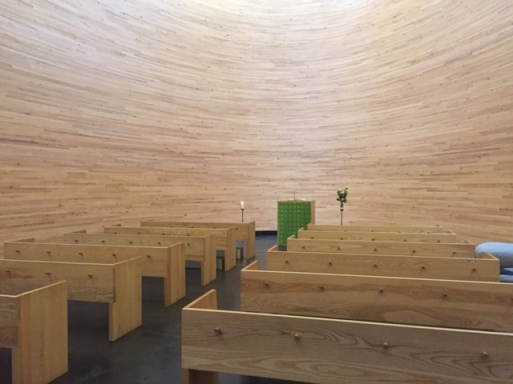 Inside the Chapel of Silence