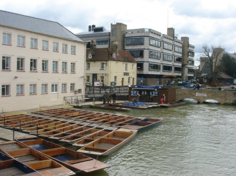 Punting boats on River Cam