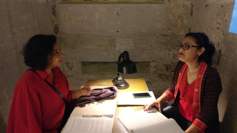 An interrogation underway