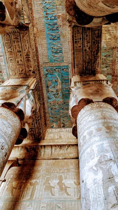 The wonderfully preserved paintings at Dendara